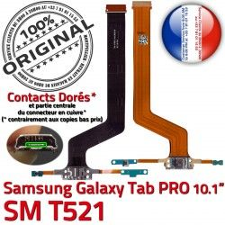 ORIGINAL Qualité Contact Connecteur Chargeur Charge Samsung C Réparation PRO SM SM-T521 de TAB Doré Galaxy T521 OFFICIELLE Nappe MicroUSB