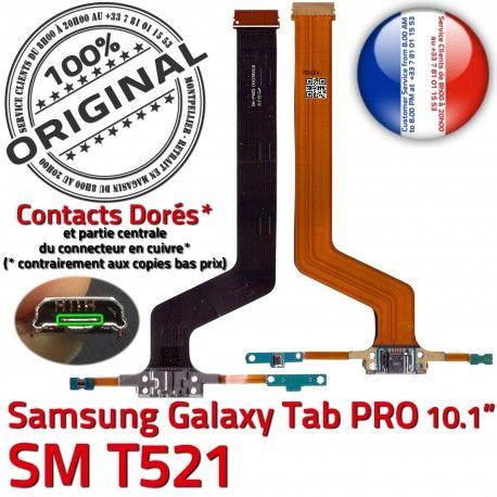SM-T521 Micro USB TAB PRO C Nappe Qualité MicroUSB Chargeur Contact Samsung Connecteur Charge Galaxy de T521 SM OFFICIELLE Réparation Doré ORIGINAL