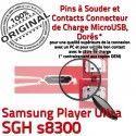 Samsung Player Ultra SGH s8300 C de Micro souder Dorés Pins Connecteur charge ORIGINAL USB Connector Dock Chargeur à Flex Prise