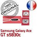 Samsung Galaxy ACE GT s5830c C charge Pins Connecteur Flex USB Dock Micro de ORIGINAL Prise Chargeur souder Connector à Dorés