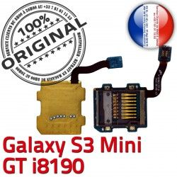 Contact Lecteur Mini Qualité GT-i8190 Micro-SD Samsung Carte Connector S3 Read Connecteur ORIGINAL Galaxy Nappe GT SD Memoire Doré i8190