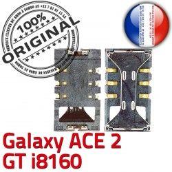 ORIGINAL Contacts Lecteur ACE2 Connector souder Dorés Galaxy Connecteur Carte Reader GT i8160 Card SIM Samsung à Pins SLOT S