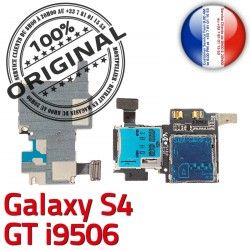 SIM ORIGINAL Connector Lecteur S4 Dorés GT Memoire Connecteur LTEAS Qualité Contacts Samsung Reader Carte Galaxy i9506 Micro-SD Nappe