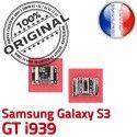 Samsung Galaxy S3 GT i939 C souder ORIGINAL Connecteur à Micro de Flex Dorés charge Dock Pins Connector Chargeur Prise USB