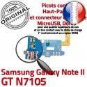 Samsung Galaxy NOTE2 GT N7105 C Nappe Charge Connecteur Qualité ORIGINAL Microphone Chargeur OFFICIELLE Prise RESEAU Antenne MicroUSB