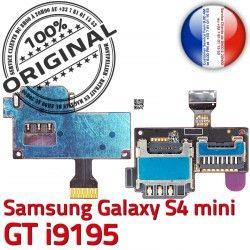 Connector Min Doré Lecteur i9195 ORIGINAL Mini Nappe SIM Carte Qualité Micro-SD GT S4 Contact S Memoire Galaxy Connecteur Samsung Read