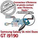 Samsung S4 Min GTi9190 C Galaxy ORIGINAL Microphone Charge Chargeur Qualité 9190 OFFICIELLE GT Prise Connecteur MicroUSB Nappe RESEAU Antenne