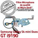 Samsung S4 Min GTi9190 C Galaxy ORIGINAL Chargeur Nappe Prise MicroUSB RESEAU Microphone Antenne Charge OFFICIELLE Connecteur Qualité 9190 GT