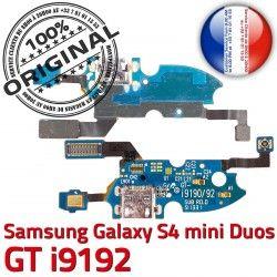Duos ORIGINAL GTi9192 MicroUSB Qualité RESEAU GT Prise 4 Samsung OFFICIELLE C S Microphone Duo Connecteur S4 Chargeur Nappe Galaxy i9192 Charge