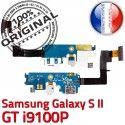 Samsung Galaxy S2 GT i9100P C Microphone Antenne Connecteur Chargeur ORIGINAL MicroUSB Prise Charge Nappe OFFICIELLE RESEAU Qualité