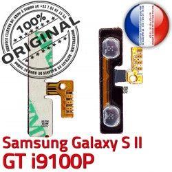Dorés Volume Samsung Connector Switch S2 Galaxy Nappe Pins V i9100P Connecteur souder GT Circuit 2 Bouton OR S à Son ORIGINAL Contacts SLOT