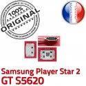 Samsung Player STAR 2 GT s5620 C Dock Pins ORIGINAL Connector souder Micro Chargeur Prise Flex à de charge Connecteur USB Dorés