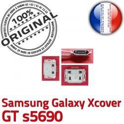 à ORIGINAL Connecteur GT Xcover Flex de Galaxy C Samsung Prise s5690 Micro Chargeur Dock Pins charge Dorés souder Connector USB