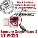Samsung Google Nexus GT i9020 C Chargeur S ORIGINAL Prise Micro USB à Dock de Pins charge Flex Connecteur Dorés Connector souder