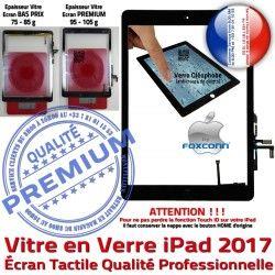 Caméra Adhésif 2017 AIR Nappe HOME Noir Verre Qualité Fixation Réparation Bouton Monté 9.7 Tablette iPad Oléophobe inch Ecran Tactile Vitre