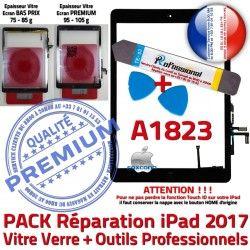 Réparation Adhésif Bouton Oléophobe Démontage KIT iPad Vitre Tactile N PACK AIR PREMIUM HOME Precollé Verre Qualité Noire A1823 Outils
