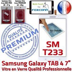 LCD Supérieure Galaxy Ecran Tactile Assemblée Qualité Blanche Prémonté B TAB4 PREMIUM Vitre SM-T233NZWAXEF Samsung Verre Adhésif NZWAXEF SM-T233