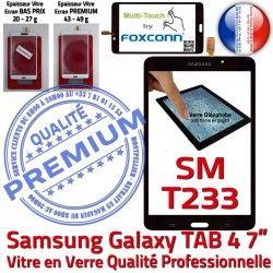 Adhésif Noire Ecran PREMIUM LCD SM-T233NZWAXEF Tactile Qualité Supérieure NZWAXEF Galaxy SM-T233 Prémonté N Verre TAB4 Vitre Assemblée Samsung