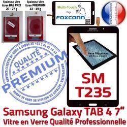 T235 inch 7 TAB Samsung N Prémonté Tactile TAB4 SM SM-T235 Supérieure LCD Adhésif Vitre Galaxy Qualité PREMIUM Ecran Verre Noire Assemblée 4