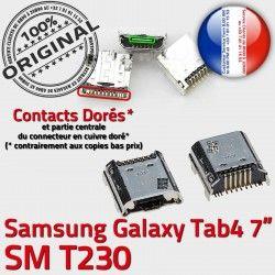 TAB 4 Dorés de à Connector Dock SM charge Pins Chargeur Galaxy Prise Micro souder Tab USB ORIGINAL Samsung Connecteur 7 inch T230