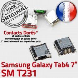 Galaxy TAB4 USB SLOT de MicroUSB Prise Chargeur Dock à Fiche Samsung Qualité Tab4 souder Connector SM-T231 charge Pins ORIGINAL Dorés